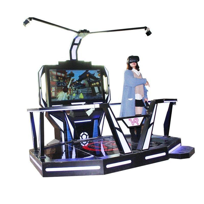 Treadmill VR Simulator With Gun Shooting Game