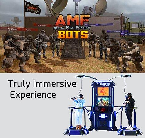 Double Player VR Walking Game For Battle Game