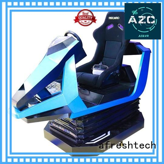 AfreshTech Interactive vr racing seat realistic experience for fitness Game centre