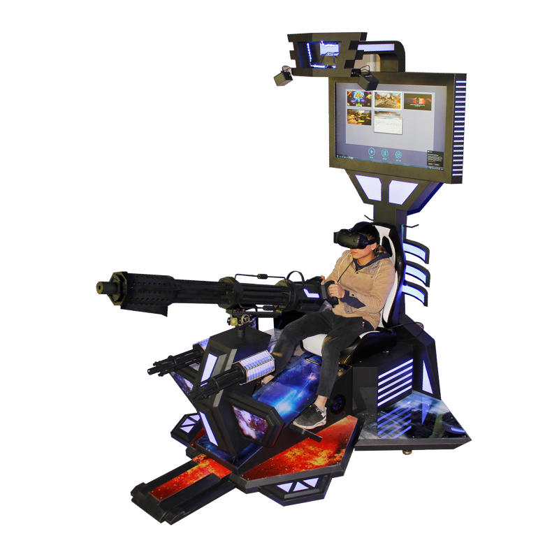 Single Shooting VR For Gatling Gun Game