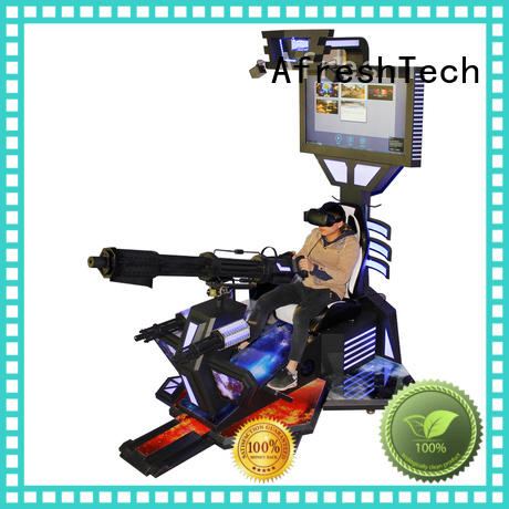 AfreshTech cool vr shooting games dynamic control technology for amusement Park